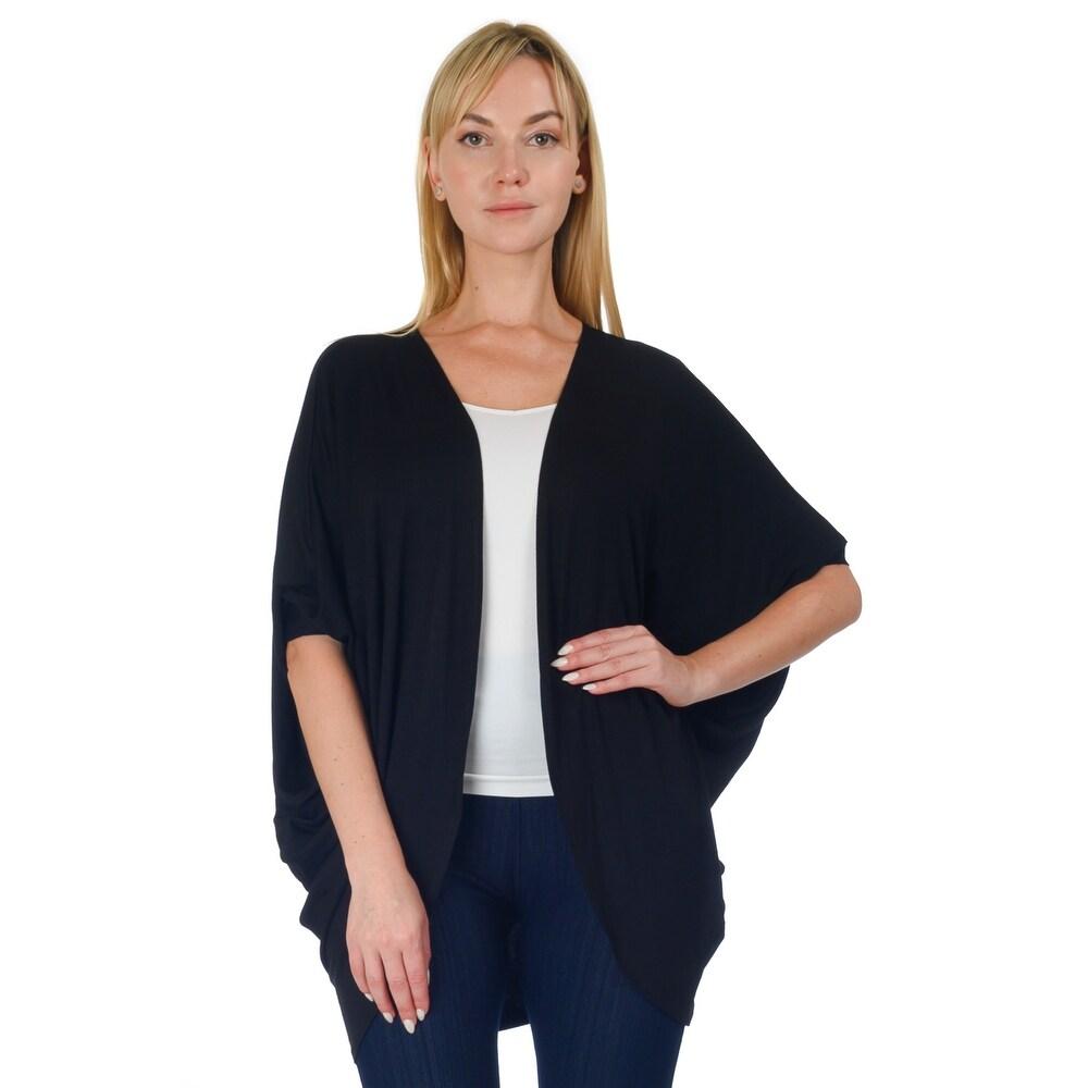 Simply Ravishing Womens Dolman Half Sleeve Open Cardigan (Size: S- 5X)