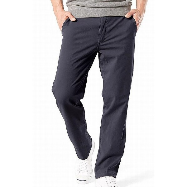 Dockers Mens Pants Navy Blue Size 38X34 Straight Fit Khaki Stretch. Opens flyout.
