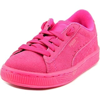 Puma Suede Iced Fluo Jr Round Toe Suede Sneakers