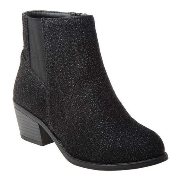 b8ebfa1f8f Shop Nanette Lepore Girls' NL80789M Glitter Ankle Bootie Black ...