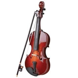 Miniature Violin Music Box - brown