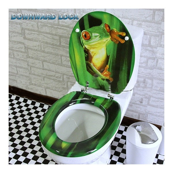 MDF Frog No Slow Descent Toilet Seat