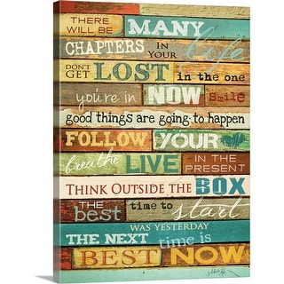 """Your Life"" Canvas Wall Art"