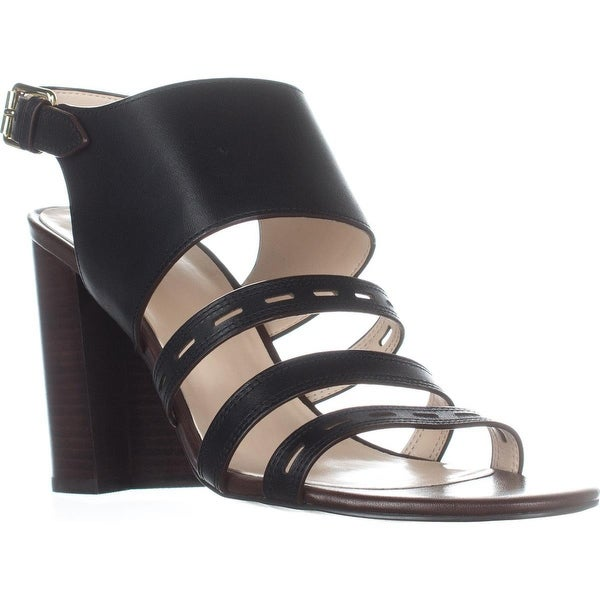 Cole Haan Lavelle High Heel Sandals, Black Leather