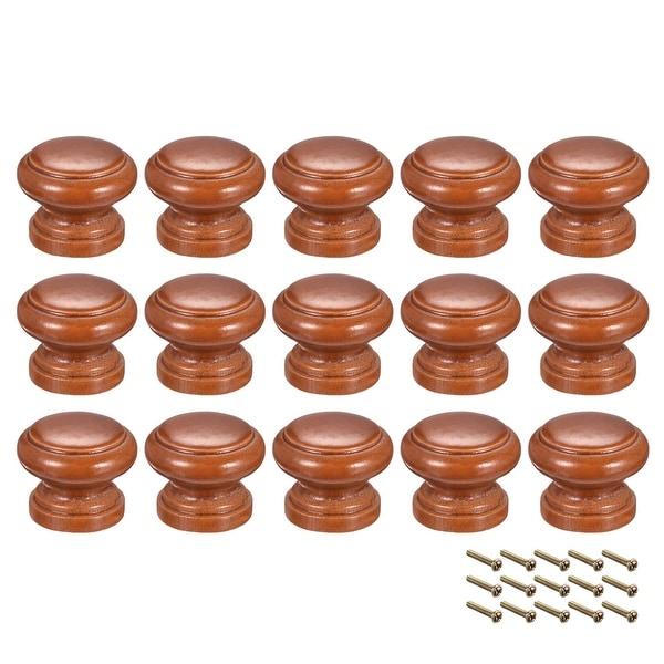 Round Pull Knob Handle 30mm Dia Cabinet Furniture Bedroom Kitchen Drawer 15pcs - 30mmx24mm(D*H)-15pcs