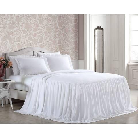 Saige Enzyme Wash 2 - 3 pc Bedspread w/ Ruffled Sham