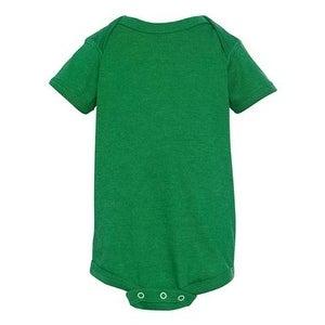 Infant Vintage Fine Jersey Bodysuit - Vintage Green - 6M