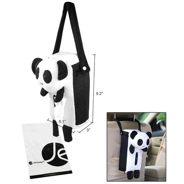 JAVOedge Panda Tissue Box Hanging Cover Over Back Seat