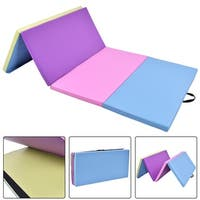 Costway 4'x8'x2'' Gymnastics Mat Folding PU Panel  Exercise Multi-Colors 2016 New - as pic