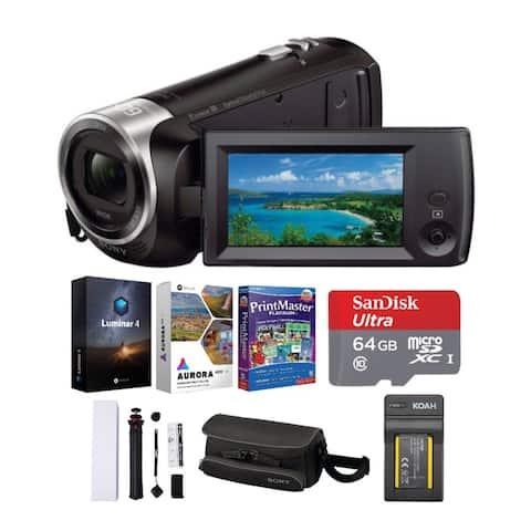 Sony Handycam FHD Camcorder with Exmor R CMOS Sensor (Black) Bundle
