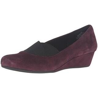 Easy Spirit Womens Davani Stretch Round Toe Wedge Heels