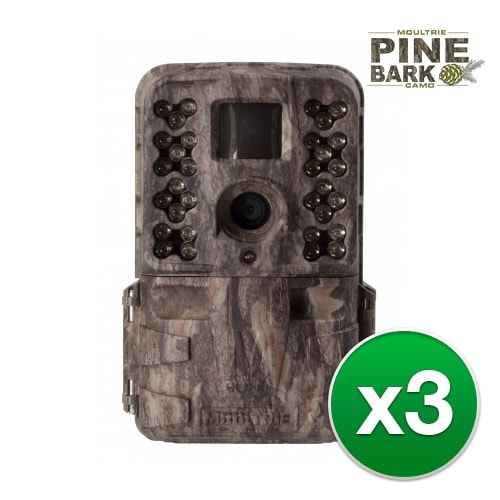 Moultrie MCG-13182 M40i Game Camera w/ Multishot, Time-lapse, Hybrid Modes 16x2 TN Display-(3-Pack)