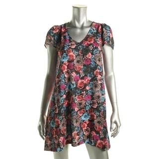 BB Dakota Womens Braxton Casual Dress Chiffon Floral Print - s