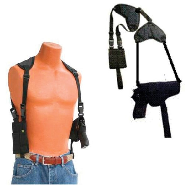 Small Automatic with laser Shoulder Holster