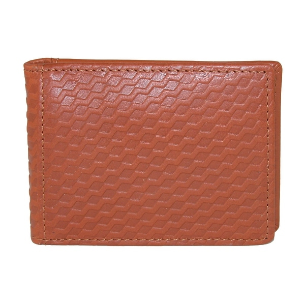 Buxton Men's Bellamy Leather RFID Protected Front Pocket Flip Wallet - One size