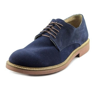 Independent Boot Company Deacon Oxford Men  Round Toe Suede Blue Oxford