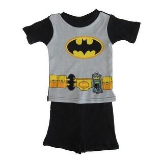 DC Comics Little Toddler Boys Black Batman Cotton Short Sleeve 2 Pc Pajama (3 options available)