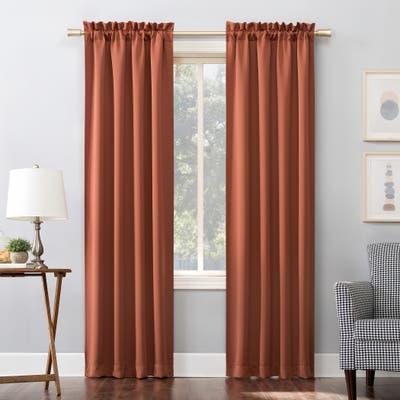 Sun Zero Hayden Energy Saving Blackout Rod Pocket Curtain Panel, Single Panel