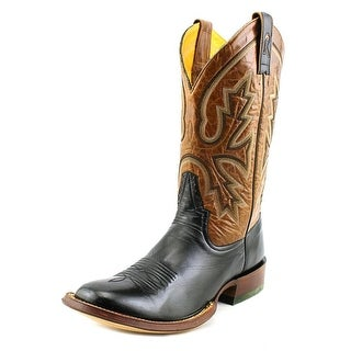 Rod Patrick Florence Men A Square Toe Leather Black Western Boot