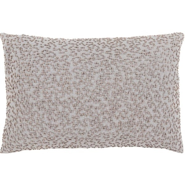 "13"" x 19"" Storm and Cloud Gray Woven Decorative Throw Pillow"