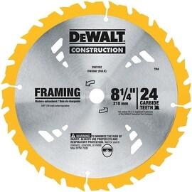 """DeWalt 8-1/4"""" 24T Carbide Blade"""