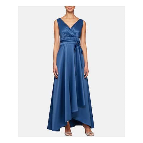ALEX EVENINGS Blue Sleeveless Maxi Shift Dress Size 12P
