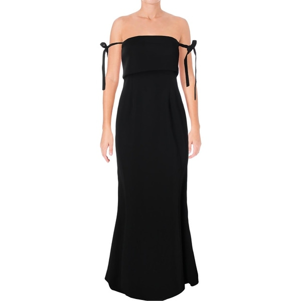 c066a5180658 Shop Jarlo Womens Brianna Evening Dress Tie Off-The-Shoulder - Free ...