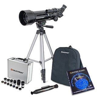 Celestron 21035 70mm Telescope With Eyepiece Kit,Skymaps & Lenspen