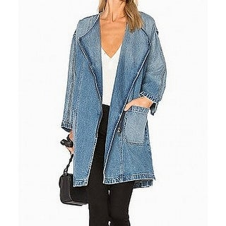 Current/Elliott Deep Womens Full-Zip Denim Jacket