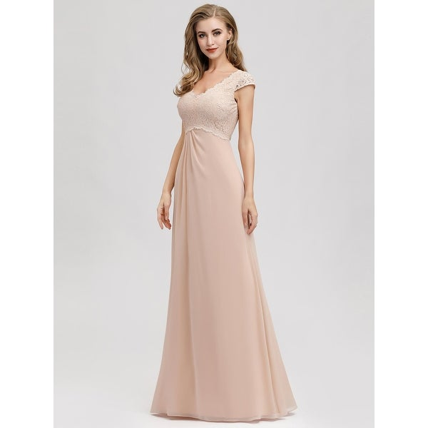 Ever-Pretty Womens One Shoulder Long Tulle Elegant A Line Evening Prom Dresses 07404