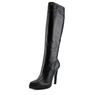 Roger Vivier Botte Lacey T.115 Women Pointed Toe Leather Black Mid Calf Boot