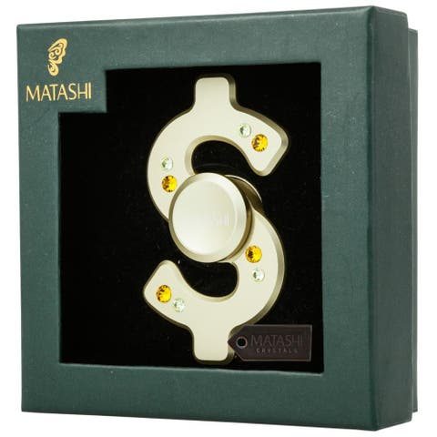 Matashi Premium Fidget Spinner Anti-Stress Toy, Anti-Anxiety Stress Reducer, Metallic (Gold, Doller Sign) - Gold