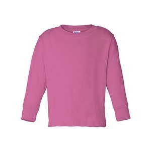 Toddler Long Sleeve Cotton Jersey Tee - Raspberry - 5/6