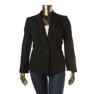 Kasper Womens Plus Long Sleeves Solid Blazer - 14W