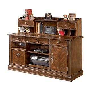Hamlyn Home Office Short Desk Hutch Medium Brown Hamlyn Home Office Short Desk Hutch Medium Brown