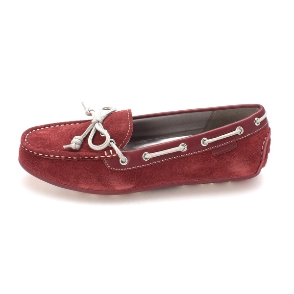 Cole Haan Womens D43379 Suede Closed Toe Boat Shoes - 6