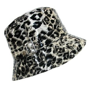 Karen Kane Women's Waterproof Leopard Animal Print Rain Bucket Hat