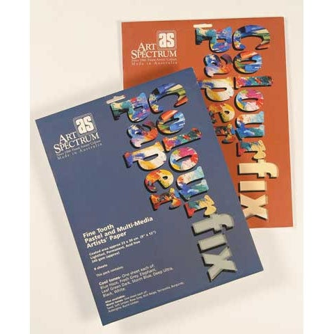 Colourfix Pastel & Multi-Media Paper Pack - 10-Sheet Pack - Cool Colors