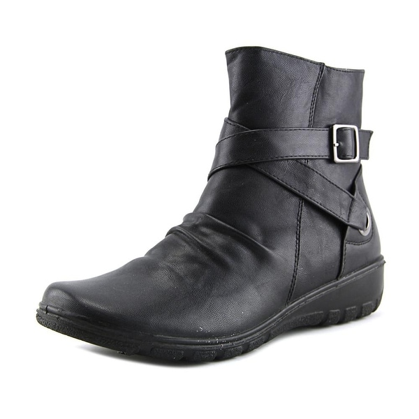Easy Street Questa Women N/S Round Toe Synthetic Black Ankle Boot