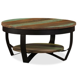 "vidaXL Coffee Table Solid Reclaimed Wood 25.6""x12.6"""