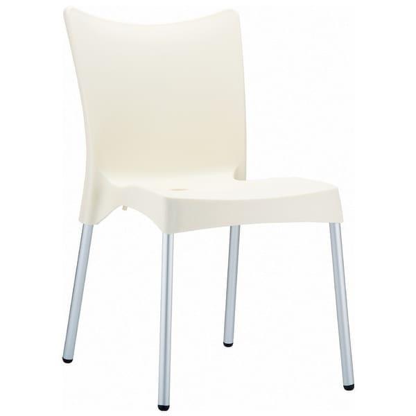 Juliette Resin Dining Chair - Set of 2 (Beige) - Ivory