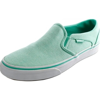 Vans Asher Women Round Toe Canvas Green Sneakers