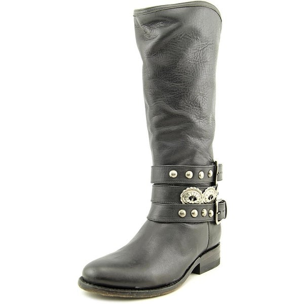 Matisse Boone Women Round Toe Leather Black Mid Calf Boot