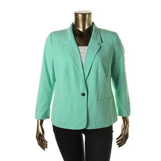 Kensie Womens 3/4 Sleeves Casual One-Button Blazer