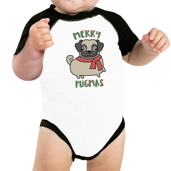 Merry Pugmas Pug Funny Graphic Pet Shirt Christmas Outfits For Pet