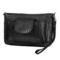 Mad Style Black Croc Smart Wallet