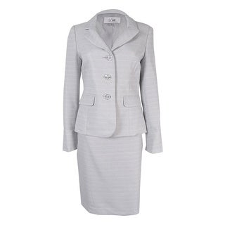 Le Suit Women's Tweed Skirt Suit - 4