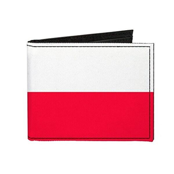 Buckle-Down Canvas Bi-fold Wallet - Poland Flag Accessory