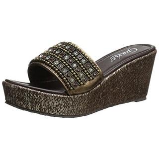 Grazie Womens Kehei Leather Embellished Dress Sandals - 8.5 medium (b,m)