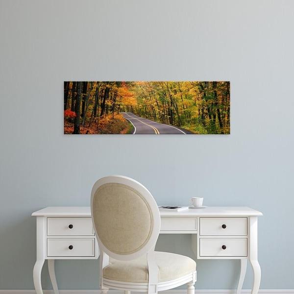 Easy Art Prints Panoramic Images's 'Route 41 Keweenaw Peninsula nr Copper Harbor MI USA' Premium Canvas Art